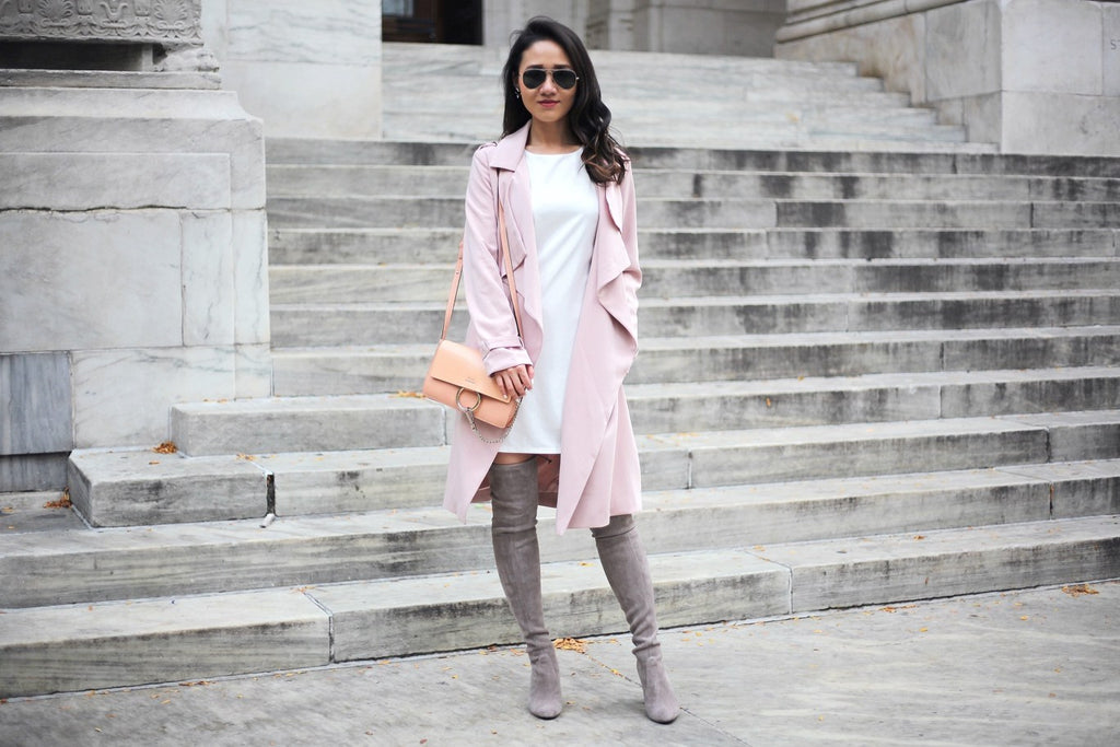 Petite Studio Pink Trench Coat - When In Doubt Blog 1