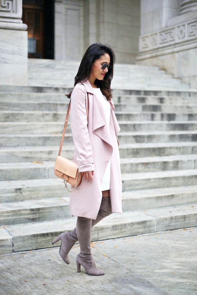 Petite Studio Pink Trench Coat - When In Doubt Blog2