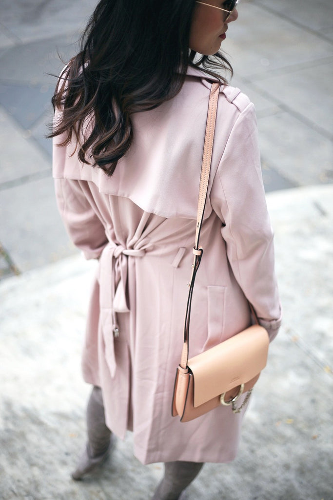 Petite Studio Pink Trench Coat - When In Doubt Blog 4