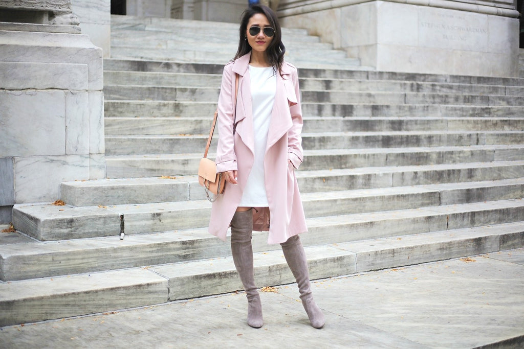 Petite Studio Pink Trench Coat - When In Doubt Blog 5