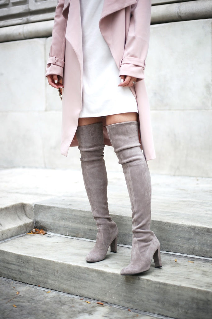 Petite Studio Pink Trench Coat - When In Doubt Blog 6