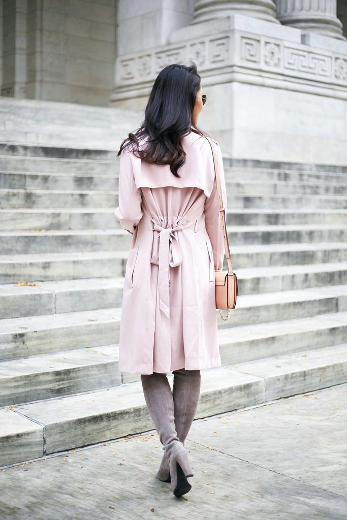 Petite Studio Pink Trench Coat - When In Doubt Blog 7