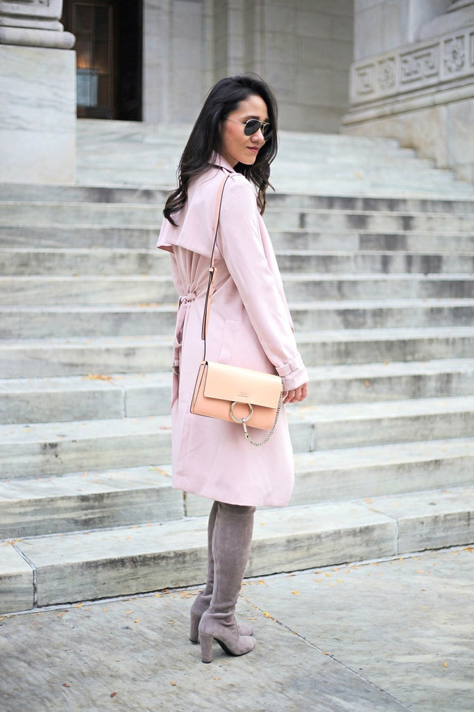 Petite Studio Pink Trench Coat - When In Doubt Blog 8