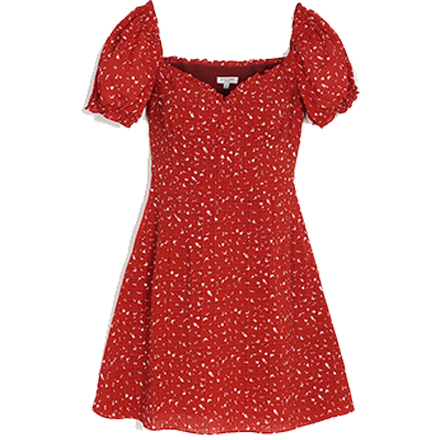 Maisy Dress - Red Floral - Petite Studio NYC