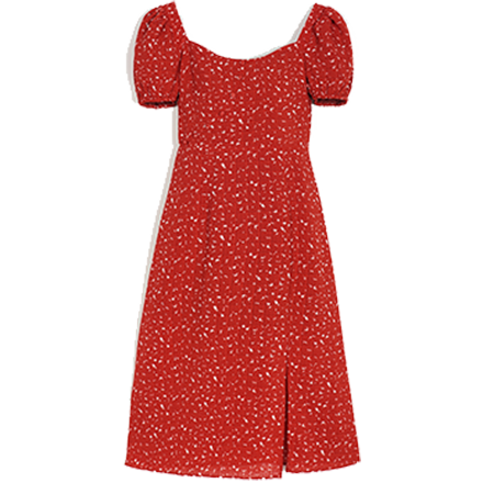 Adelaide Dress - Red Print - Petite Studio NYC