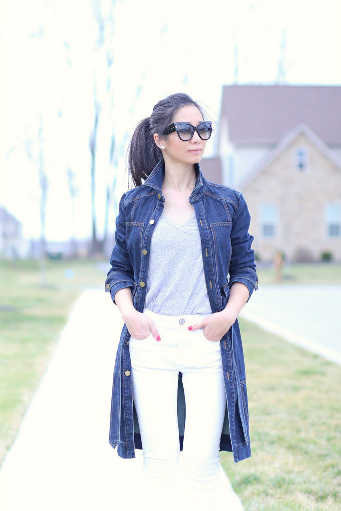sydneysfashiondiary - denim trench white jeans1