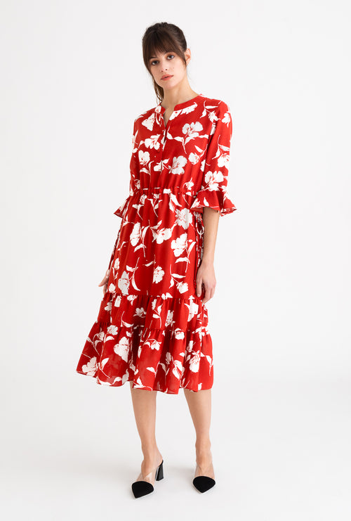 Celina Dress-Red Floral-dresses-Petite Studio