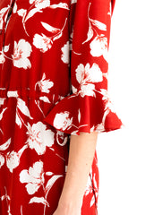 Celina Dress-Red Floral-red floral midi dress-Petite Studio NYC