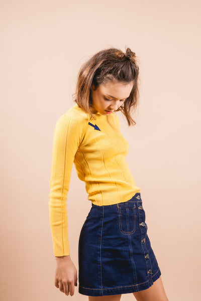 Leroy Arrow Sweater-tops-Petite Studio