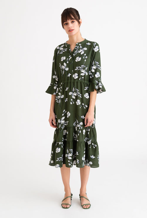 Celina Dress-Green Floral-dresses-Petite Studio