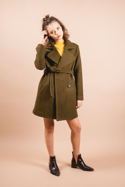 Carkson Green Coat-outerwear-Petite Studio