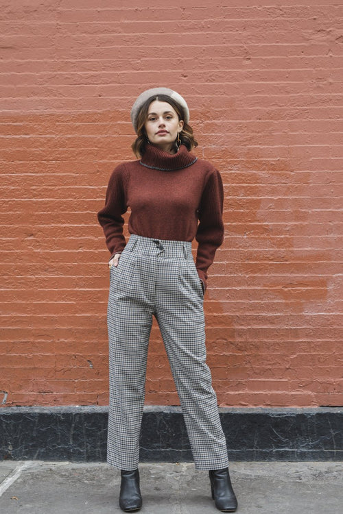 Tammy Sweater - Maroon - Petite Studio NYC