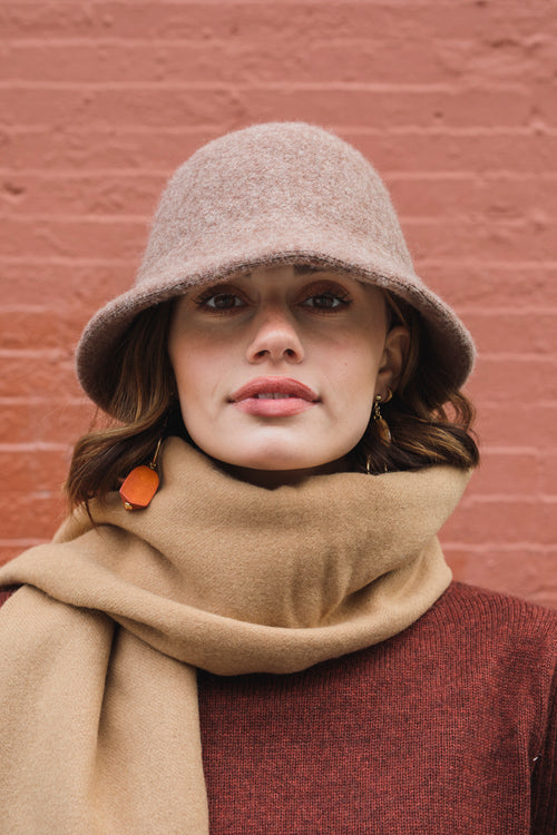 Wool Bucket Hat - Mocha - Petite Studio NYC