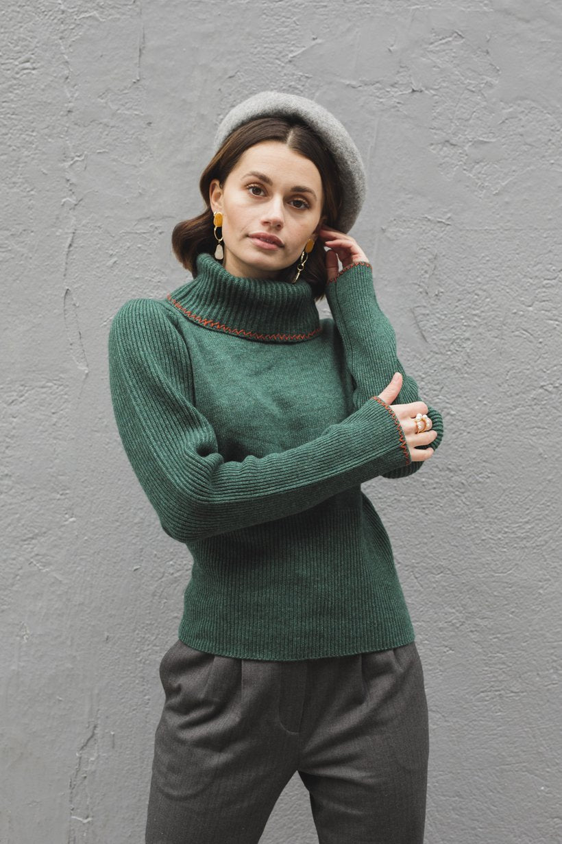 Tammy Sweater - Pine - Petite Studio NYC