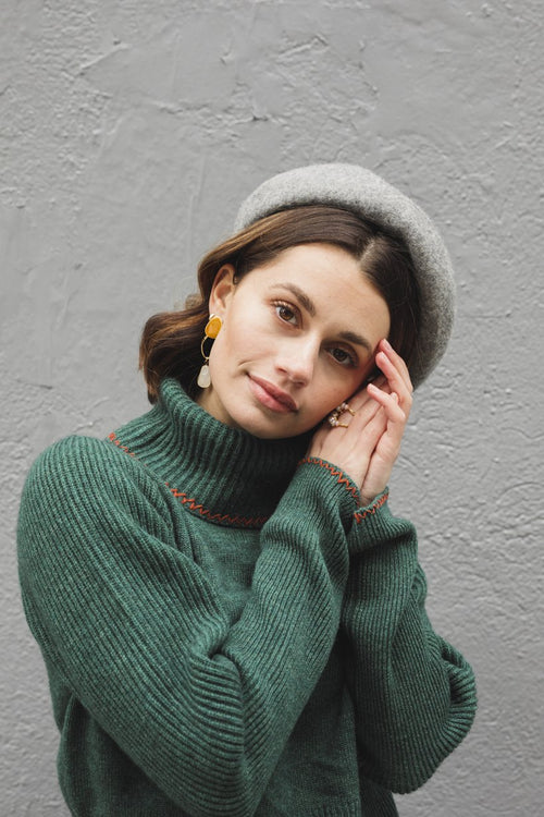 Wool Beret - Grey - Petite Studio NYC