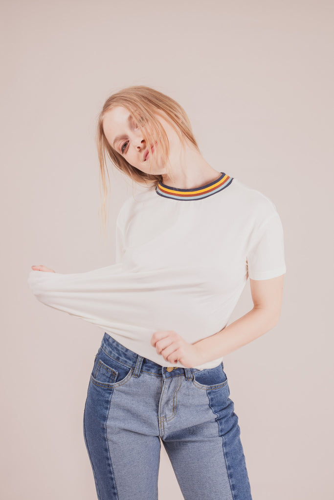 Hylan Rainbow T-shirt | Petite Studio-petite clothing & tops