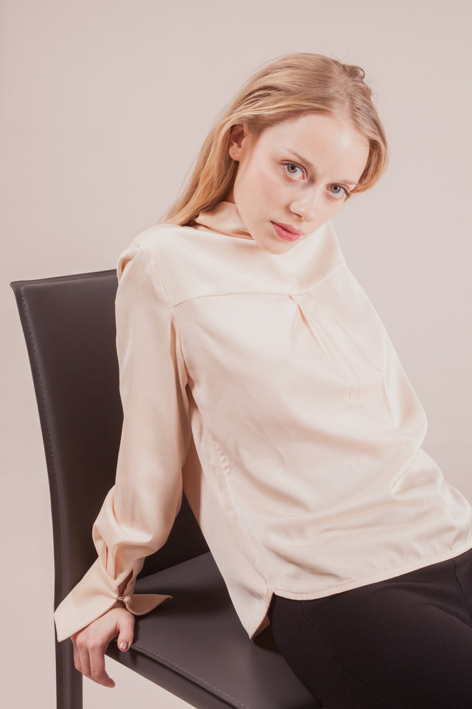 Delancey Champagne Blouse | Petite Studio-petite clothing & tops