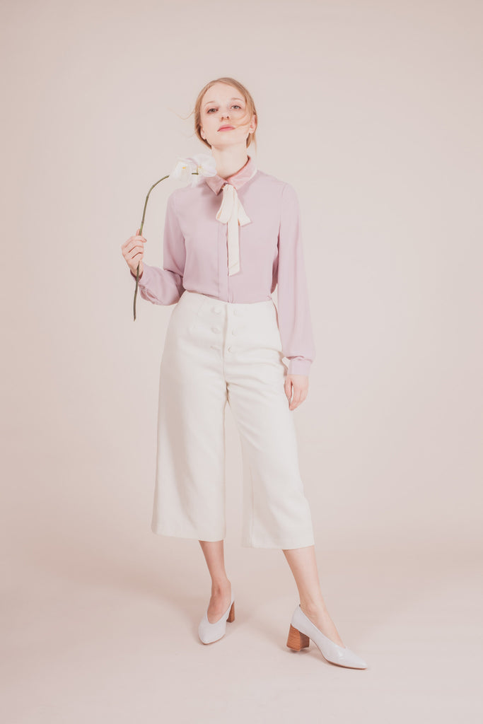 Maiden Bow Blouse - Lavender | Petite Studio-petite clothing & tops