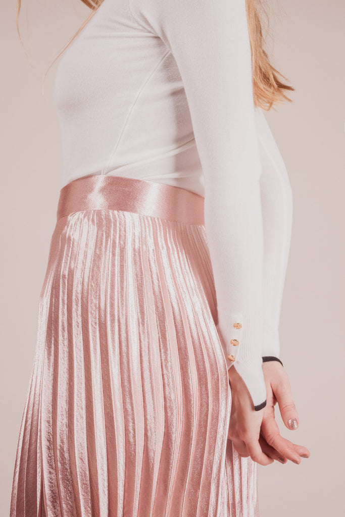Oliver Velvet Midi Skirt | Petite Studio-petite clothing & bottoms