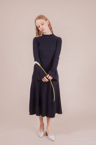 Verdi Knit Dress - Navy | Petite Studio-petite clothing & bottoms