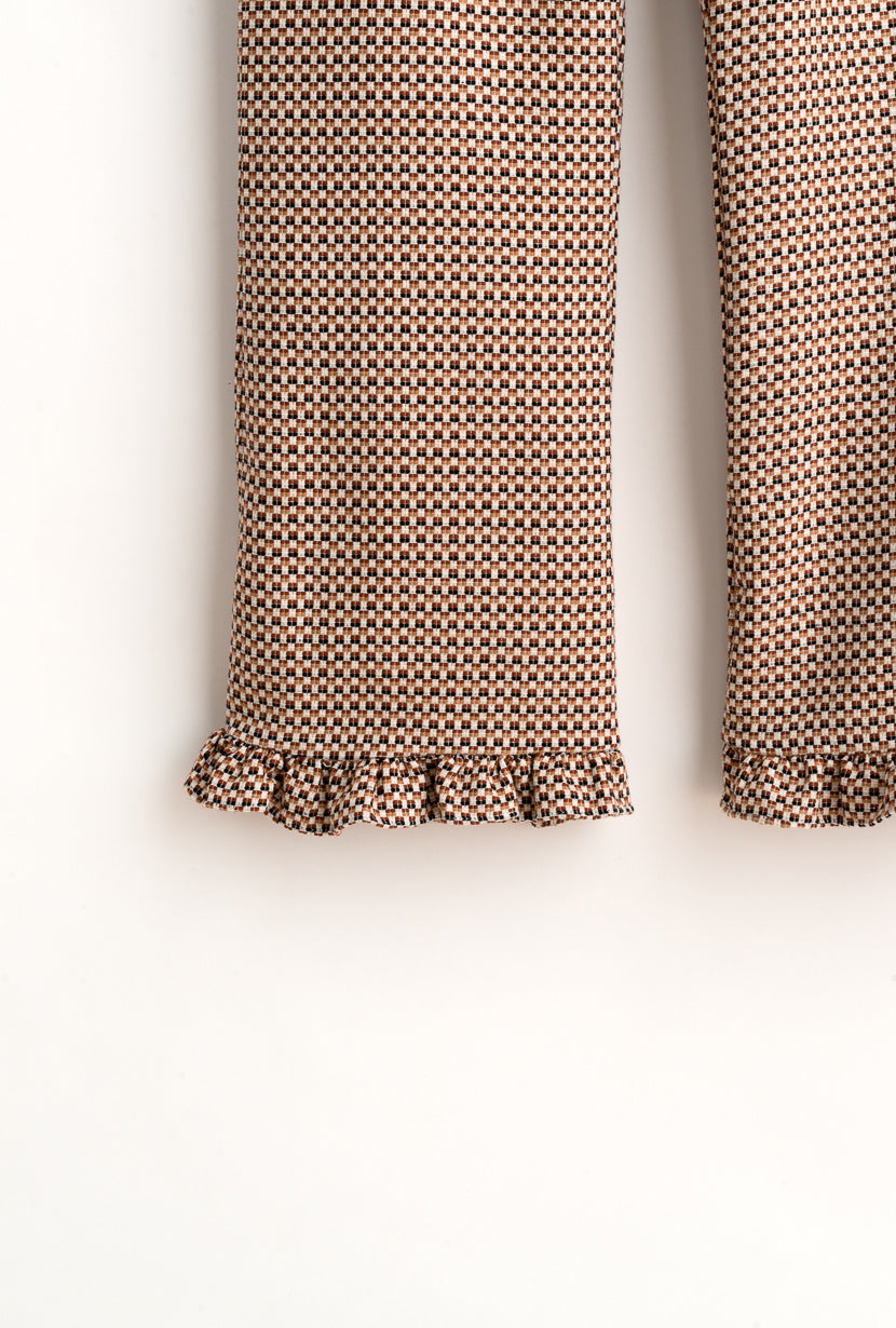 Holly Pants-brown tweed cropped pants-Petite Studio NYC