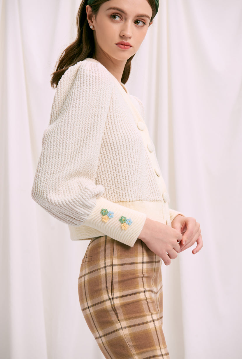 knit cardigan-cute fall sweater-petite fashion-petite girls-Fall 2020-Celia Cardigan - Oatmeal-Petite Studio NYC
