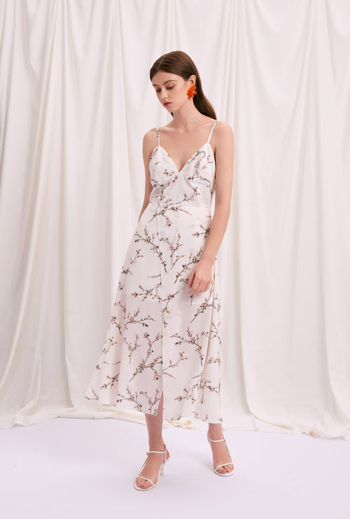 Carly Dress - Ivory Sprig