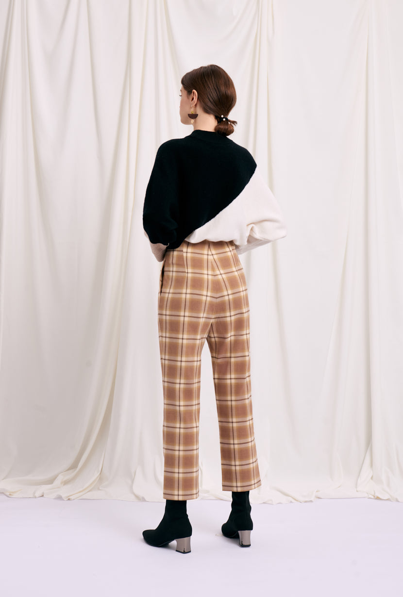 plaid pants-slim pants-petite fashion-petite girls-Winter 2020-Waverly Pants - Yellow plaid-Petite Studio NYC