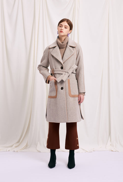 women's winter coats-white coat-petite fashion-petite girls-Winter 2020-Christie Wool Coat - Oatmeal-Petite Studio NYC
