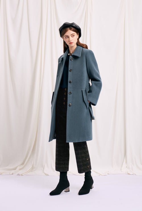 women's winter coats-blue coat-petite fashion-petite girls-Winter 2020-Nina Wool Coat - Nightime Blue-Petite Studio NYC