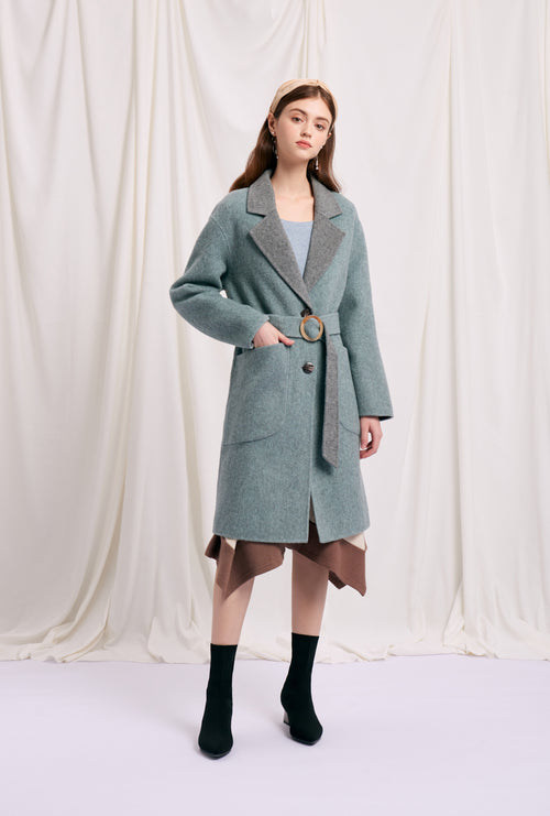 women's winter coats-wool coat-petite fashion-petite girls-Winter 2020-Mila Reversible Wool Coat - Camel-Petite Studio NYC