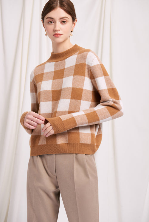 sweater-caramel-petite fashion-petite girls-Winter 2020-Cathleen Wool Sweater - Caramel -Petite Studio NYC