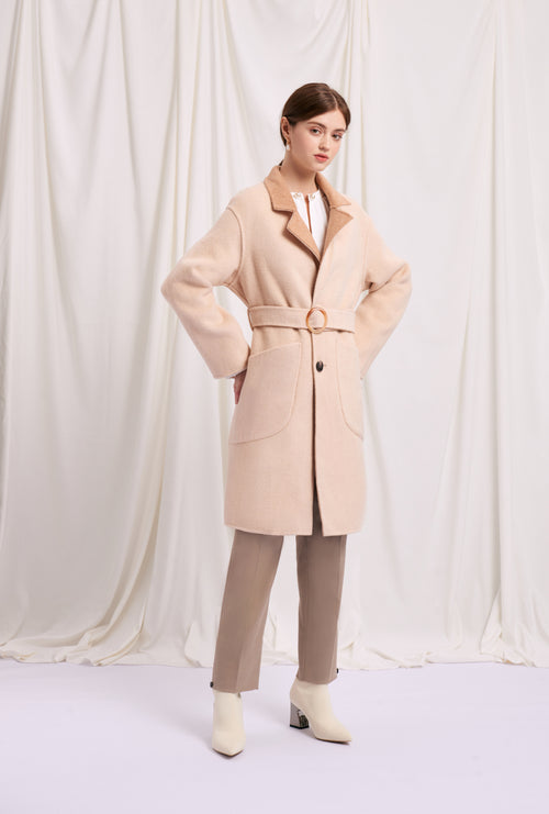 women's winter coats-camel coat-petite fashion-petite girls-Winter 2020-Mila Reversible Wool Coat - Camel-Petite Studio NYC
