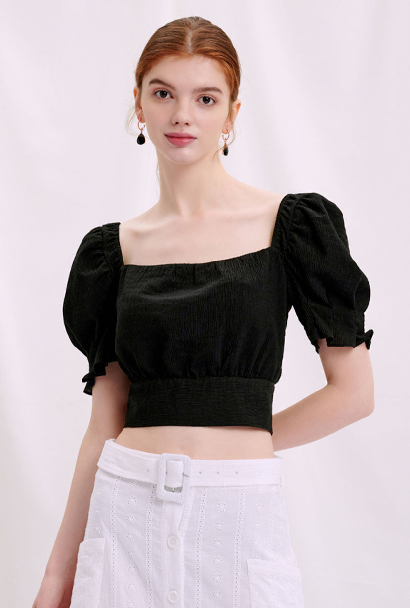 Petite Studio's Abigail Top in Black