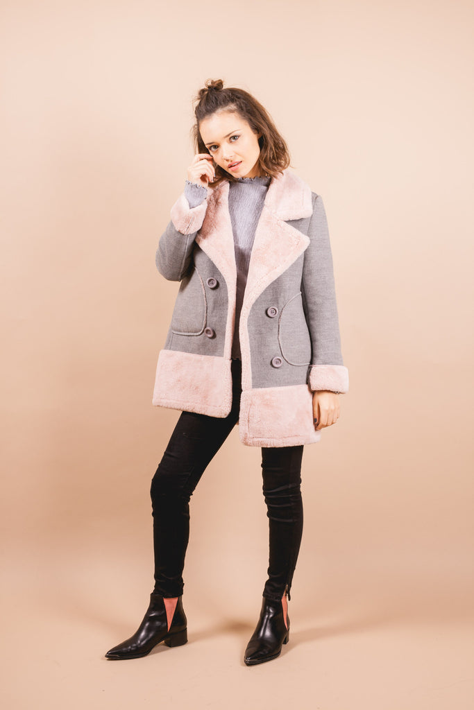 Jane Fleecy Coat-outerwear-Petite Studio