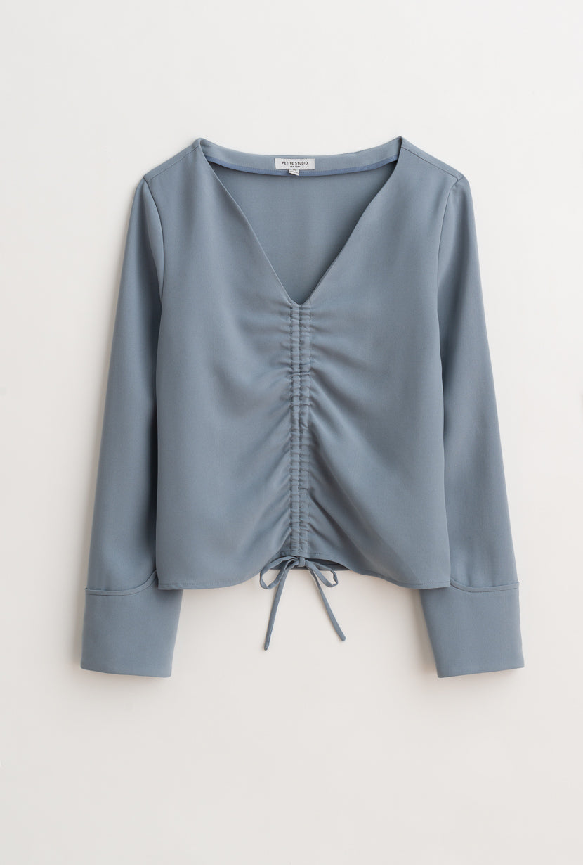 Stella Top-Dusty Blue-tops-Petite Studio