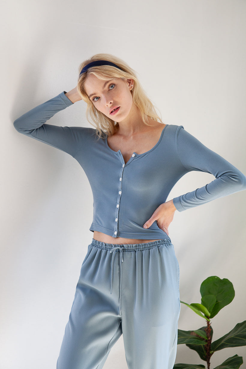 home-top-pajama-petite fashion-petite girls-new arrivals oct 20 home-Ava Jersey Top - Dusty Blue-Petite Studio NYC