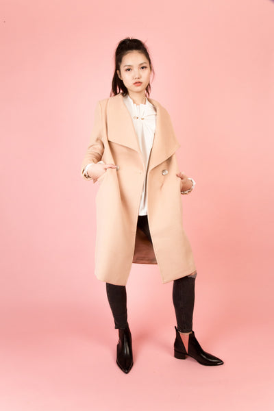 Staten Light Tan Coat | Petite Studio-petite clothing & outerwear