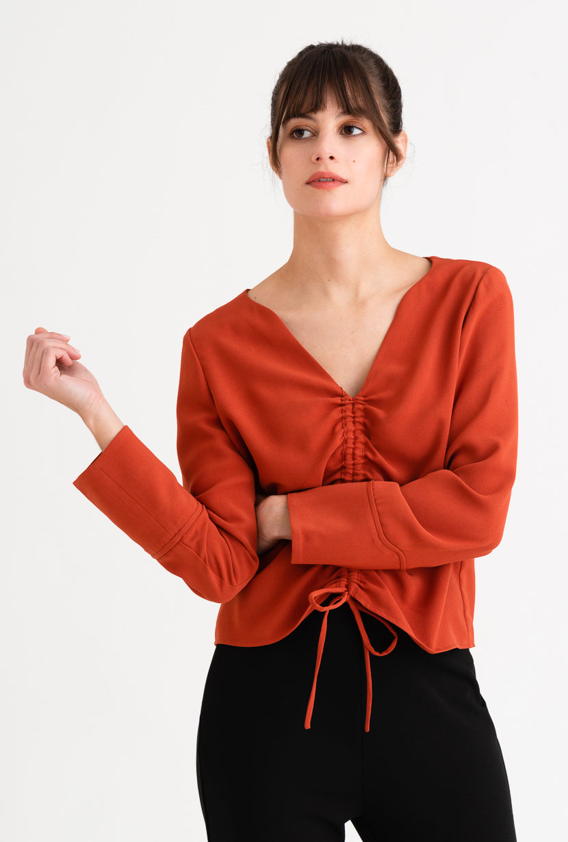 Stella Top  - Cherry Red