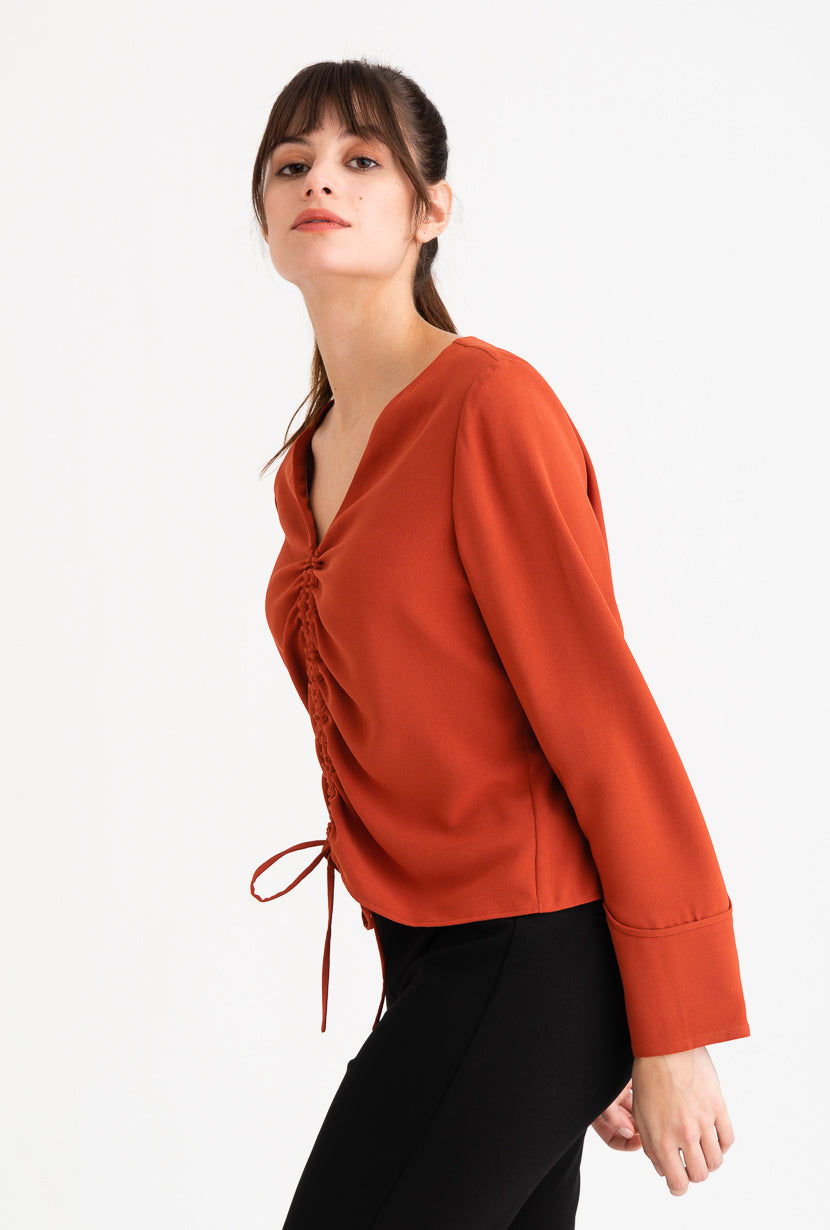 Stella Top -Cherry Red-tops-Petite Studio