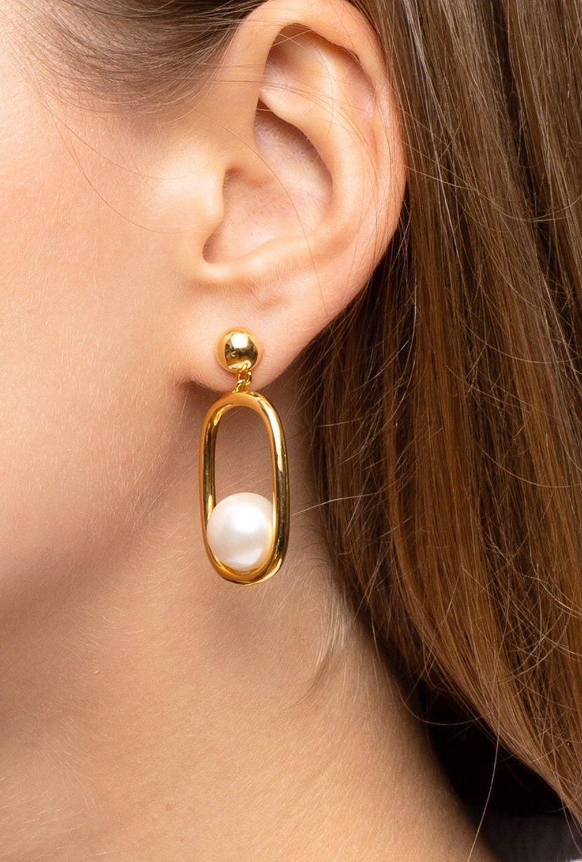 LE|J Gold Hoop Earrings - Petite Studio NYC - Jewelry Collection