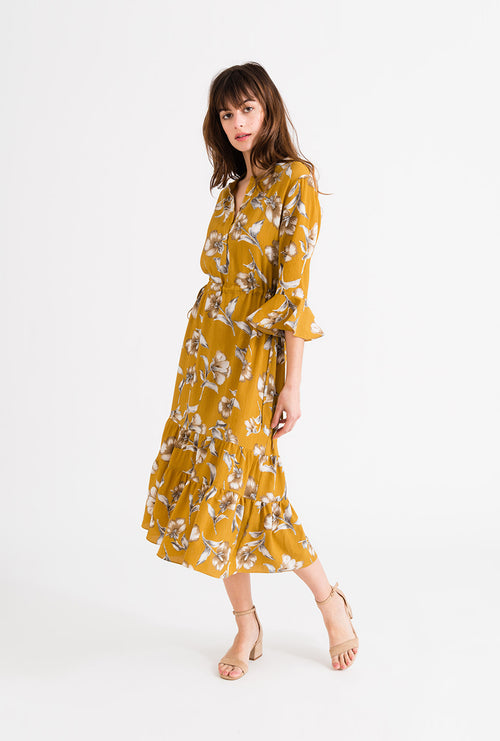 Celina Dress - Mustard-dresses-Petite Studio