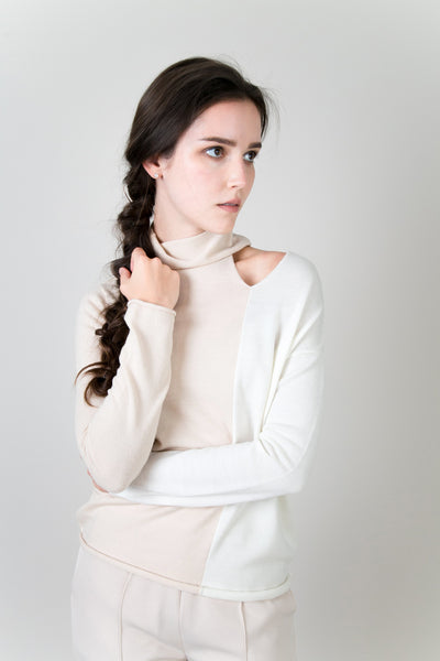 Clinton Dual Color Sweater | Petite Studio-petite clothing & sweaters