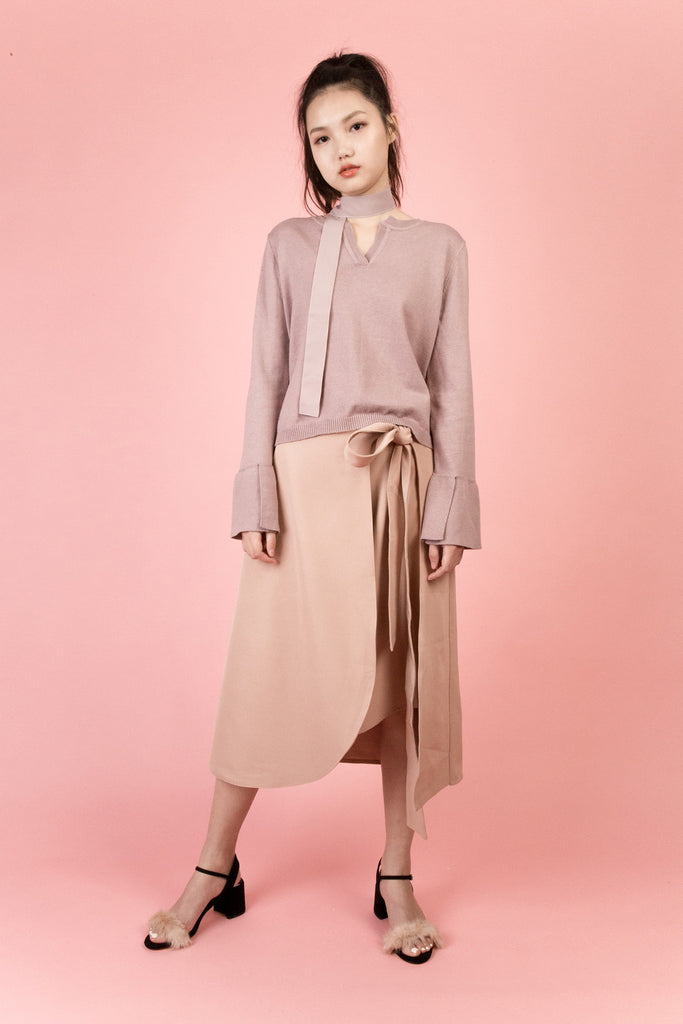 Essex Ribbed Midi Skirt-bottoms-Petite Studio