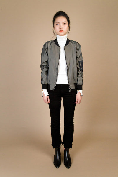 Evergreen Bomber-outerwear-Petite Studio
