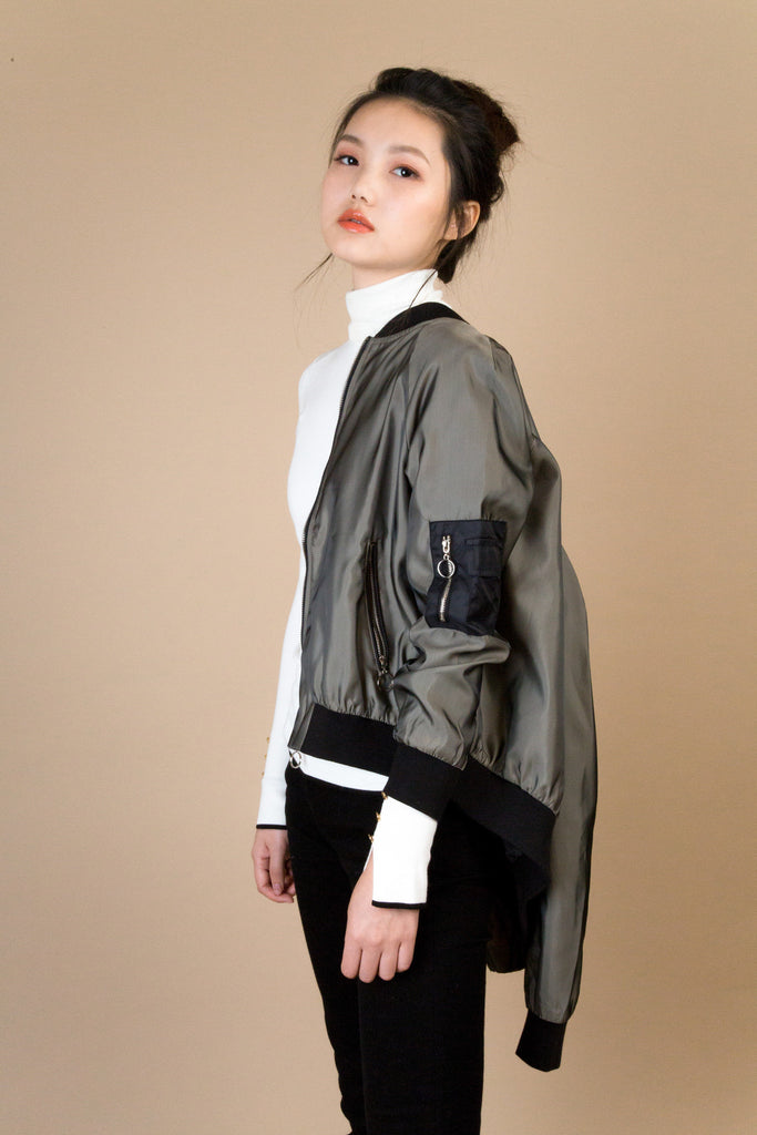 Evergreen Bomber Jacket | Petite Studio-petite clothing & outwear