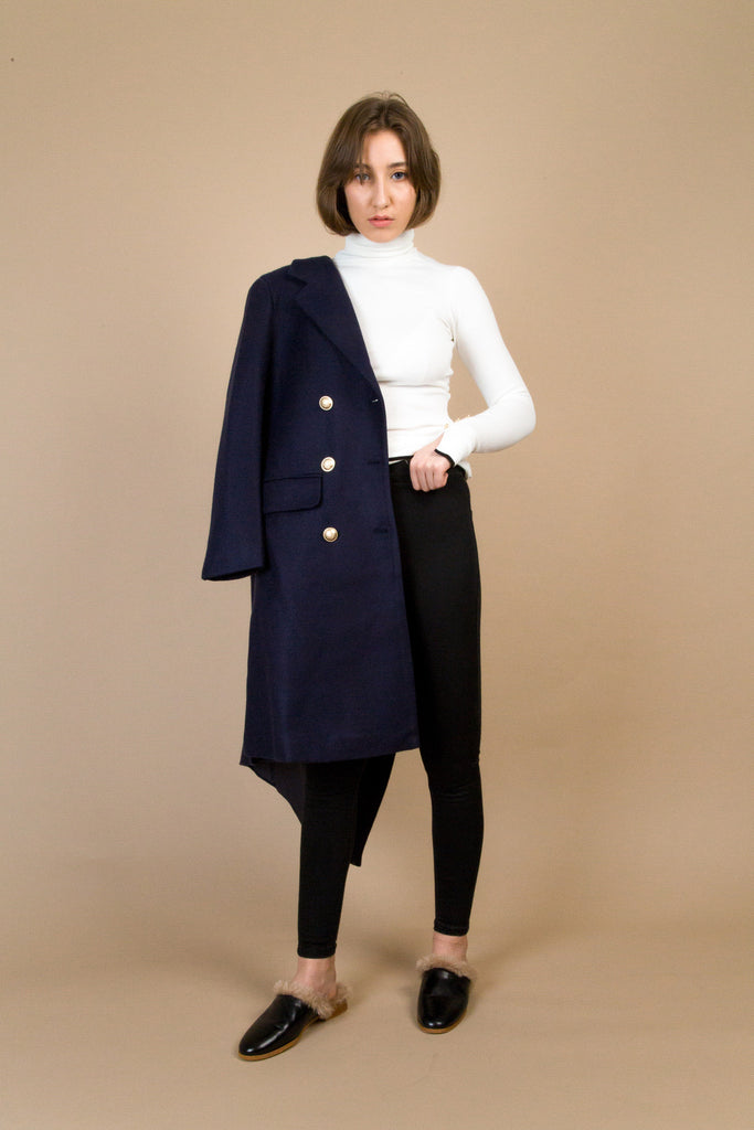 Greene Navy Coat | Petite Studio-petite clothing & outerwear