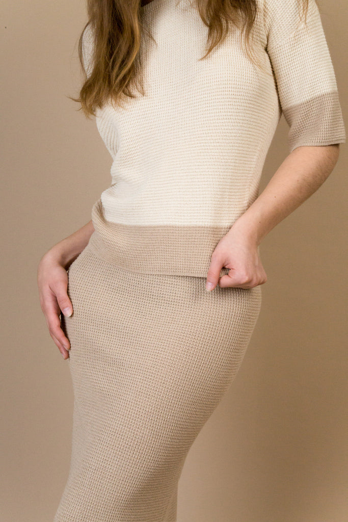 Greenwich Camel Knit Set | Petite Studio-petite clothing & dresses