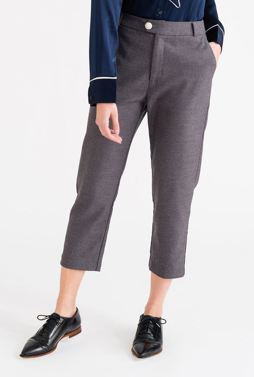Emery Pants - Grey-bottoms-Petite Studio