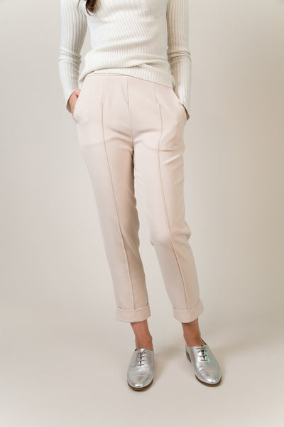 Highline Above Ankle Pants - Cream | Petite Studio-petite clothing & pants